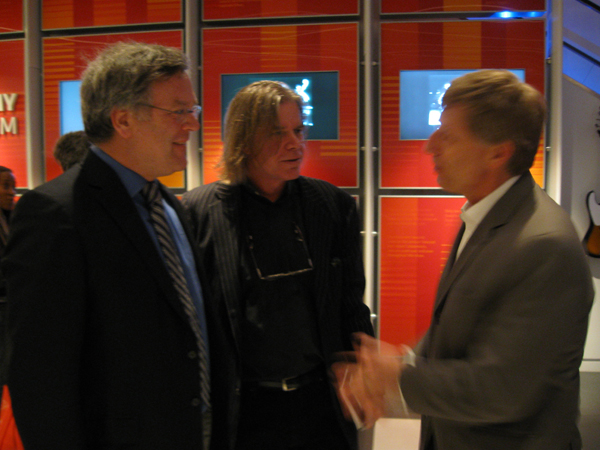 Nion McEvoy, Chris Murray, and Bob Santelli