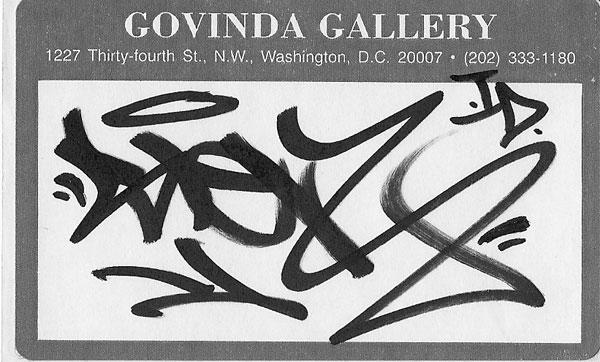 The Original Sticker Tagged for Govinda's Invitation to Graffiti