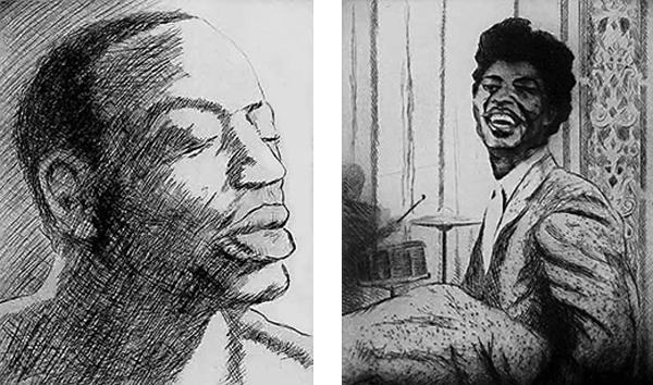 Ron Wood Blues Drawings