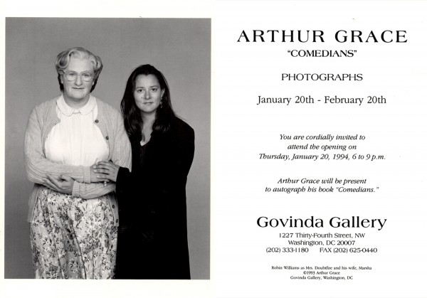 Robin Williams Govinda Gallery Arthur Grace