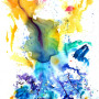 Fresh 3, Acrylic on canvas.  4'x6'