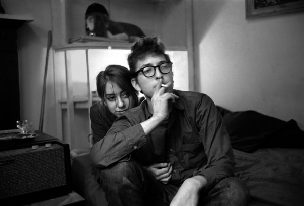 January 1962 New York City Bob Dylan in his Greenwich Village apartment with his then girlfriend Suze Rotolo.
