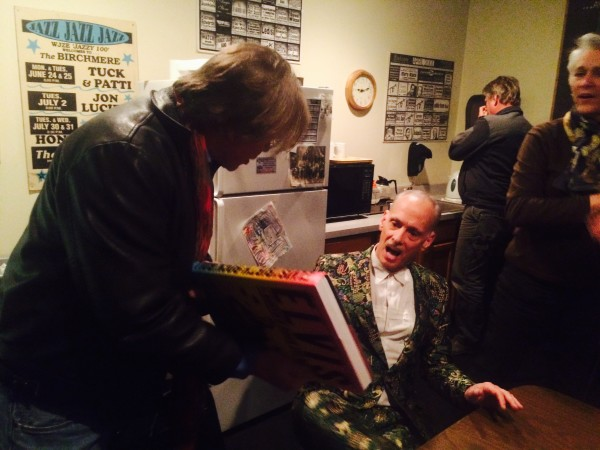 chris murray presenting to john waters the taschen book murray edited elvis and the birth of rock and roll featuring alfred wertheimers photographs - John Waters Christmas