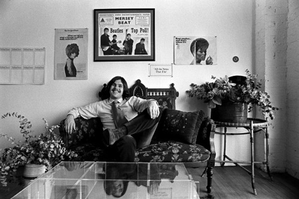 Jann Wenner at Rolling Stone's offices in San Francisco, 1969. © Baron Wolman.