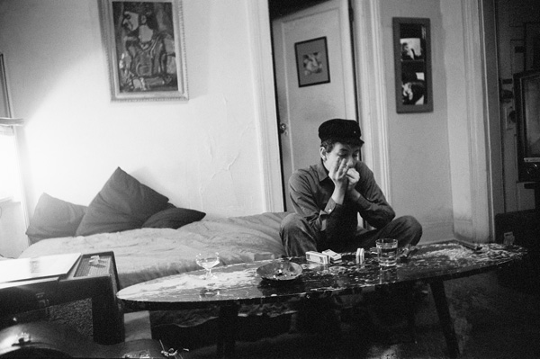 Dylan playing harmonica