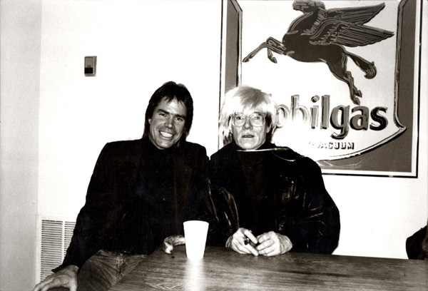 Chris Murray and Andy Warhol at Govinda Gallery, 1985.