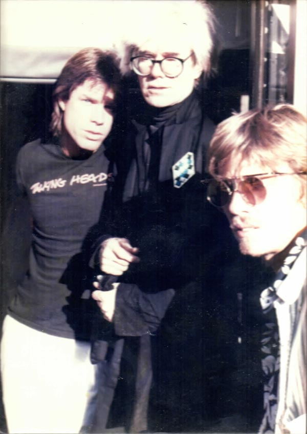 Chris Murray, Andy Warhol, and Chris Makos.