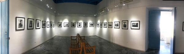 Exhibition installation at Fototeca de Cuba