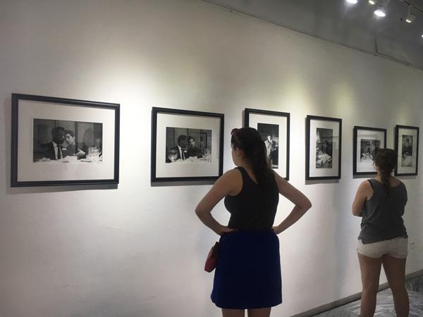 Visitors at Fototeca de Cuba