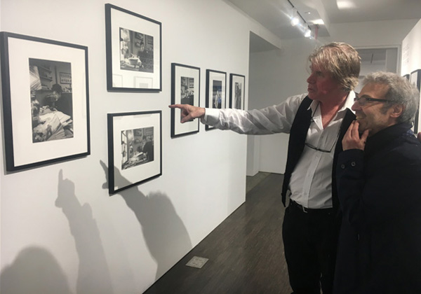Claude Gassian and Chris Murray at Ted Russell's exhibition at Steven Kasher Gallery.