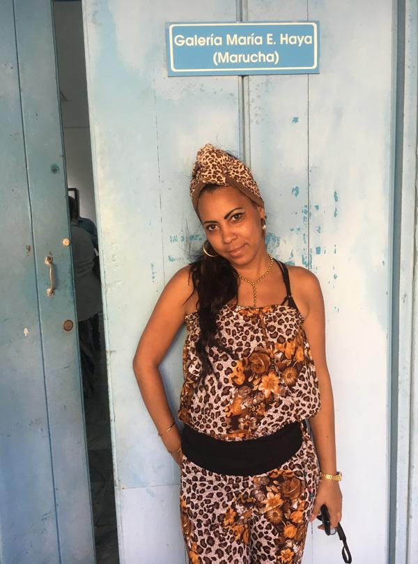 Conchita, who works at Fototeca de Cuba.