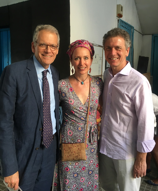 Jeffrey DeLuarentis, Carlotta Hester and Andrew Umhau at the opening of Ted Russell's exhibition at Fototeca de Cuba.