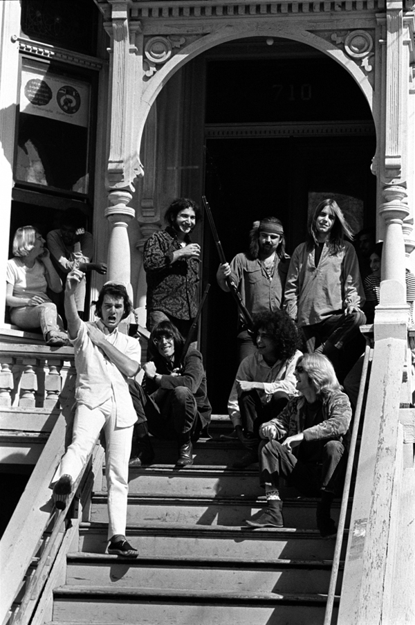 """Dead on the Steps"", The Grateful Dead, 710 Ashbury Street, San Francisco, CA, October 1967"